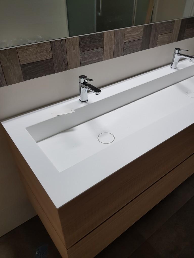 Mobili bagno sospeso doppio rubinetto dress code rovere 2